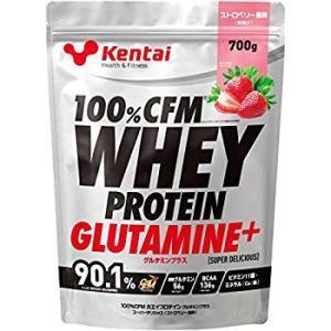 Kentai 100%CFMホエイプロテイン グルタミンプラス ストロベリー風味 700g|general-purpose