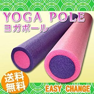 Santasan ヨガポール エクササイズ ストレッチ 体幹トレーニング (ピンク) general-purpose