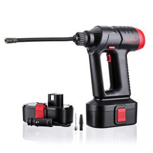 Audew コードレス式電動エアコンプレッサー 電動ポンプ デジタルLCDディスプレイ、2つの充電モードとポータブルハンドヘルドポンプ(11|general-purpose