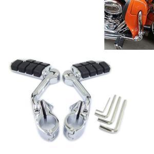 ハーレー ツーリング/ロードキング 用 ハイウェイ フットペグ フットペダル フットレスト ロングタイプ(デザイン 1)|general-purpose