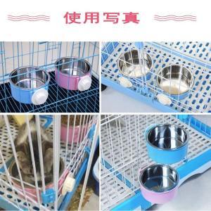 ペットボウル ハンガーボウル ハンガー食器 ペット用掛けるボウル 犬 猫 ケージ用掛けるボウル ボウル ペット食器 フードボウル ペットお皿|general-purpose