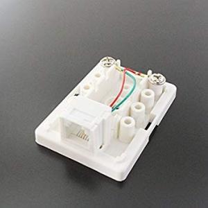 タローズ TARO'S モジュラージャック モジュラーローゼット/電話/テレホン 6極2芯 1ポート 露出 エコ簡易パッケージ CRS11-|general-purpose