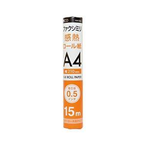 ミヨシ MCO FAX用感熱ロール紙 A4 0.5インチ 15m巻 1本入 FXK15AH-1|general-purpose