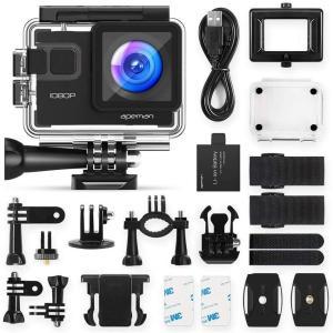 進化版 APEMAN A66S アクションカメラ 1080P高画質 1400万画素 HDMI出力 ス...