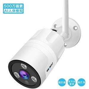 防犯カメラ 屋外 ワイヤレス WiFi 500万画素 AI人体検知 ,GENBOLT 監視カメラ 110°超広角,アクティブ音声威嚇,ONV general-purpose