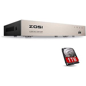 ZOSI 8CH AHD防犯レコーダー 720P AHD防犯カメラ対応 モーション検知 遠隔監視 メール警報 Ipad/iPhone/And general-purpose