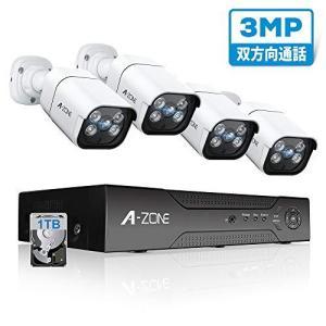 最新AI人体感知・双方向通話A-ZONE 300万画素タイプ防犯カメラ POE給電カメラ 防犯カメラ 監視カメラ ハイビジョン スピーカー搭 general-purpose