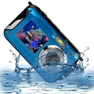 デジカメ 防水 デジカメ 防水カメラ デジカメ 水中カメラ デジタルカメラ スポーツカメラ 2.7K 48.0MP デュアルスクリーン日本語|general-purpose
