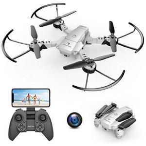SNAPTAINドローン カメラ付き 折り畳み式 小型 こども向け バッテリー2個付き 最大飛行時間15分 高画質720P WIFI FPV|general-purpose