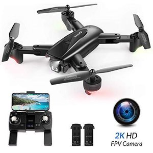 SNAPTAINドローン GPS搭載 2K 110°広角HDカメラ付き バッテリー2個付き 26分飛行時間 200g未満 折り畳み式 フォロ|general-purpose