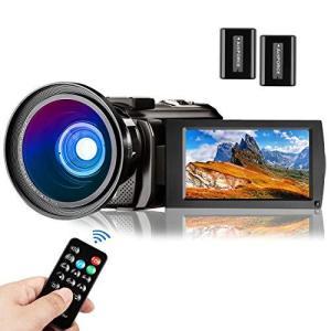 ビデオカメラ Aasonida デジタルビデオカメラ HD1080P 超広角レンズ搭載 遠隔操作可 ウェブカメラ用 3.0インチ液晶ディスプ|general-purpose