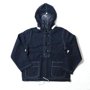 ジャケット デニム メンズ BUZZ RICKSON'S NAVY HOODED PULLOVER JACKET フーディ BR11703 generalstore-y