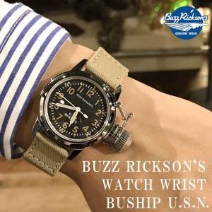 残りわずか!今だけポイント5倍以上! 腕時計 復刻 ミリタリーウォッチ BUZZ RICKSON'S バズリクソンズ WATCH WRIST BUSHIP U.S.N.|generalstore-y