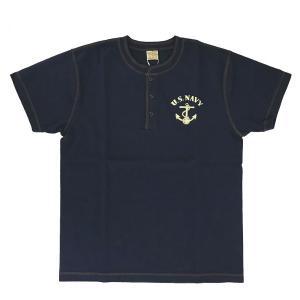 Tシャツ メンズ BUZZ RICKSON'S SLUB YARN HENLEY NECK T-SHIRT