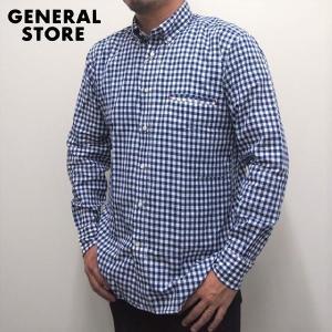 シャツ ボタンダウン メンズ GENERAL STORE ギンガムチェック 玉縁シャツ|generalstore-y