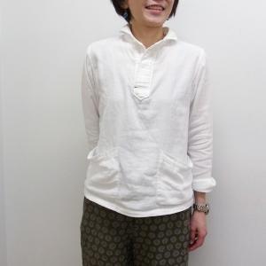 GENERAL STORE ORIGINAL 丸襟 PO ガーゼポケットシャツ カフェ ユニフォーム|generalstore-y