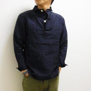 GENERAL STORE ORIGINAL 丸襟 PO ポケットシャツシャツ リネン カフェ ユニフォーム |generalstore-y