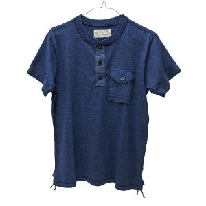 Tシャツ メンズ SUGAR CANE (シュガーケーン) FICTION ROMANCE 半袖 カットソー (SC77948) ヘンリーネック|generalstore-y