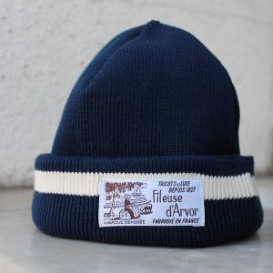 メール便送料無料 ニット キャップ 帽子 Fileuse d'Arvor(フィールズ ダルボー)コットンリブ|generalstore-y