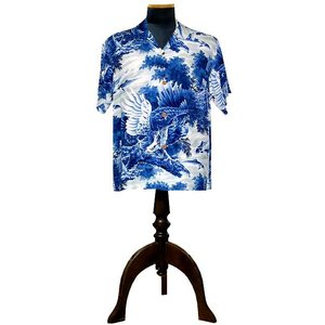 SUN SURF (サンサーフ) アロハシャツ EAGLE & SWEET FISH(鷲&魚) KILOHANA(BLUE) generalstore-y