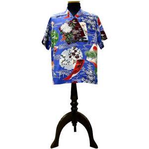 SUN SURF (サンサーフ) アロハシャツ THE EDO HARMONY (ザ・エドハーモニー)BLUE|generalstore-y