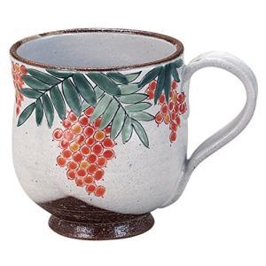 九谷焼 「花暦」 12ヶ月の マグカップ (12月) 南天 N49-12 genieweb