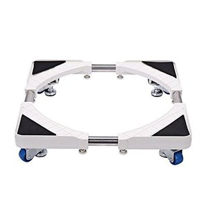 洗濯台 かさ上げ 昇降可能の洗濯機置き台 コンテナ台車 4つ移動式ホイール 寸法調節可能-HXF88A010|genieweb