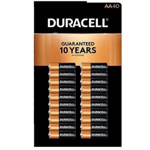 Duracell MN1500 Duralock 銅トップアルカリ単三電池 - 40個パック genieweb