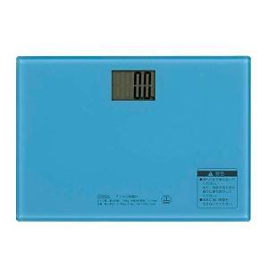 オーム電機 デジタル体重計(ブルー) HBK-T101-A|genieweb