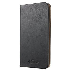 ELECOM iPhone6 Plus 手帳型 レザーカバー スタンドフラップ ブラック PM-A1...