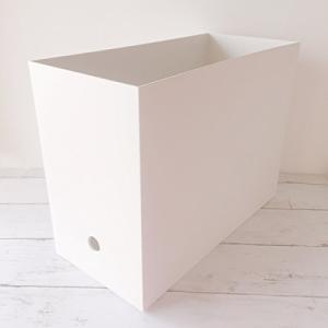 ポリプロピレン ファイルボックス スタンダードタイプ ワイド A4 ホワイトグレー 約15×32×2...