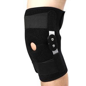 膝プロテクタ、外部に取り付けられたアルミニウム合金ヒンジ、調整可能なプロフェッショナルな膝パッド内側および外側のサポート(白支架)|genieweb