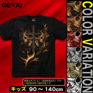 Tシャツ キッズ スカル ロック メタル|genju