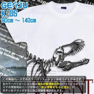 Tシャツ キッズ 恐竜 ティラノサウルス|genju