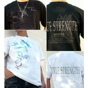 メール便なら送料180円〜 Tシャツ ドラゴン 長袖あり XS S M L XL XXL 2L 3L Dragon's Gate -True Strength-|genju|02