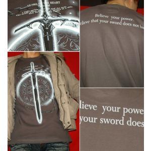 Tシャツ トライバル 剣 半袖 長袖 XS S M L XL XXL XXXL 2L 3L 4L サイズ メンズ レディース Sword Field -Durandal-|genju|04