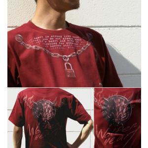 Tシャツ 狼 ウルフ 半袖 長袖 XS S M L XL XXL XXXL 2L 3L 4L サイズ メンズ レディース Wolfen Heart|genju|03