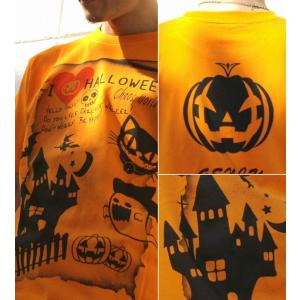 Tシャツ ハロウィン コスプレ 仮装 カボチャ スカル パーティ スポーツジム XS S M L XL XXL XXXL 3L 4L ChaosWorld|genju|03