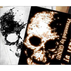 Tシャツ スカル ドクロ 半袖 長袖 XS S M L XL XXL XXXL 2L 3L 4L サイズ メンズ レディース Image of Death Type-1|genju|02