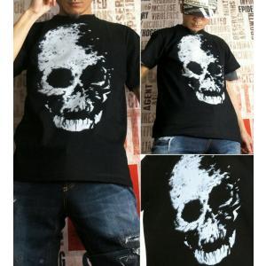 Tシャツ スカル ドクロ 半袖 長袖 XS S M L XL XXL XXXL 2L 3L 4L サイズ メンズ レディース Image of Death Type-1|genju|03