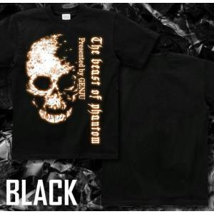 Tシャツ スカル ドクロ 半袖 長袖 XS S M L XL XXL XXXL 2L 3L 4L サイズ メンズ レディース Image of Death Type-2|genju|03