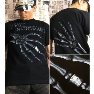 Tシャツ スカル メタル ロック 半袖 長袖 XS S M L XL XXL XXXL 2L 3L 4L サイズ メンズ レディース Heavy Nightmare|genju|02