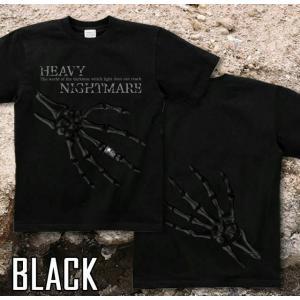 Tシャツ スカル メタル ロック 半袖 長袖 XS S M L XL XXL XXXL 2L 3L 4L サイズ メンズ レディース Heavy Nightmare|genju|05