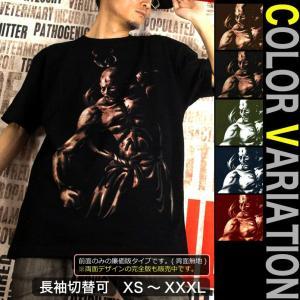 Tシャツ 和柄 仏像 仁王 阿吽 サイズ|genju