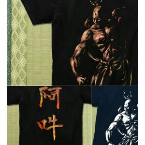 Tシャツ 和柄 仏像 半袖 長袖 XS S M L XL XXL XXXL 2L 3L 4L サイズ メンズ レディース 阿吽|genju|03