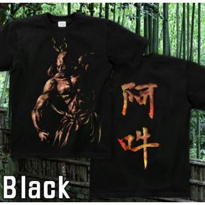 Tシャツ 和柄 仏像 半袖 長袖 XS S M L XL XXL XXXL 2L 3L 4L サイズ メンズ レディース 阿吽|genju|06