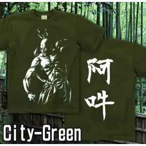 Tシャツ 和柄 仏像 半袖 長袖 XS S M L XL XXL XXXL 2L 3L 4L サイズ メンズ レディース 阿吽|genju|07
