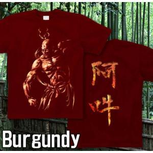Tシャツ 和柄 仏像 半袖 長袖 XS S M L XL XXL XXXL 2L 3L 4L サイズ メンズ レディース 阿吽|genju|09