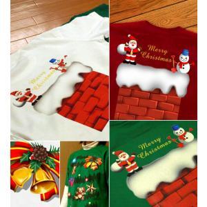 クリスマス Tシャツ 仮装 衣装 スポーツジム 半袖 長袖 XS S M L XL XXL XXXL 2L 3L 4L サイズ メンズ レディース イルミネーション|genju|03