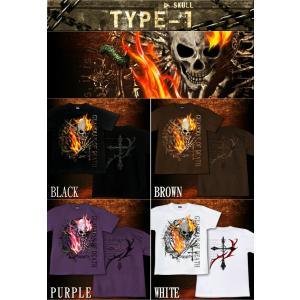 スカル ロック メタル Tシャツ 半袖 長袖 XS S M L XL XXL XXXL XXXL 2L 3L 4L サイズ メンズ かっこいい 人気商品 メール便なら送料180円〜 skull festival|genju|02